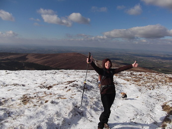 Hillwalking in Mount Leinster